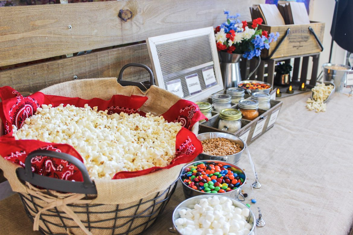 Carolina socials catering popcorn bar