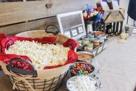 Carolina socials catering popcorn bar